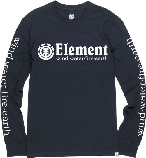 ELEMENT MENS TOP.HORIZONTAL SLEEVE PRINT BLACK LONG SLEEVED T SHIRT TEE 8W 7 37